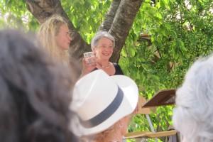 dernière lecture du week end à la Cerisaie, Nine et Jacqueline