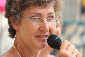 ouverture du festival: Martine Mazere adjointe à la culture