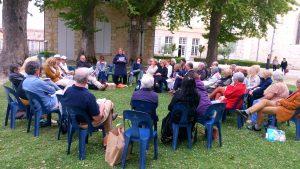 lecture ouverte à tous au jardin des Marronniers
